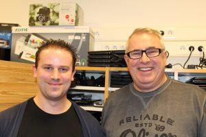 Unser Schulassistent Arne Lindhorst und unser Hausmeister Frank Ripke